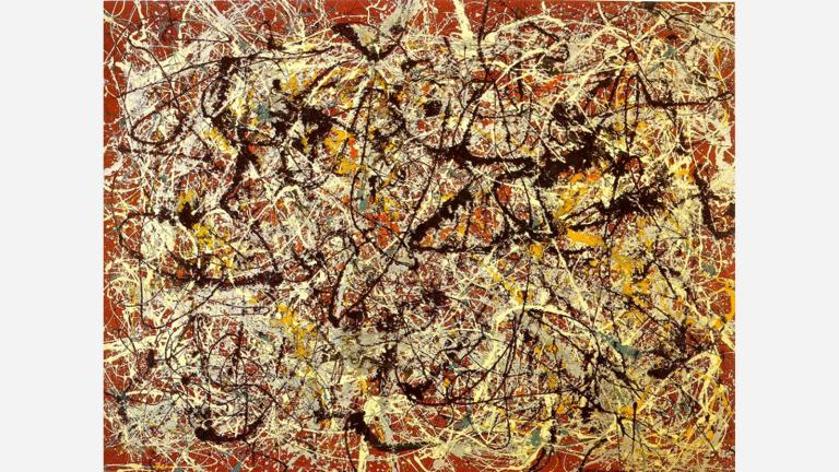 Jackson Pollock: Mural on Red Indian Ground (1950)